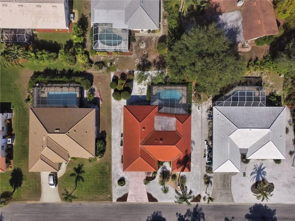 Aerial shot - Single Family Home for sale at 9 Pine Ridge Way, Englewood, FL 34223 - MLS Number is D5921839