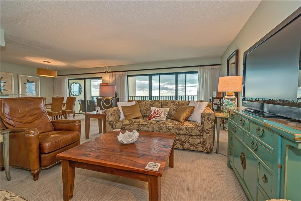 LIVING ROOM OVERLOOKING THE GULF OF MEXICO - Condo for sale at 5700 Gulf Shores Dr #a-317, Boca Grande, FL 33921 - MLS Number is D5922412