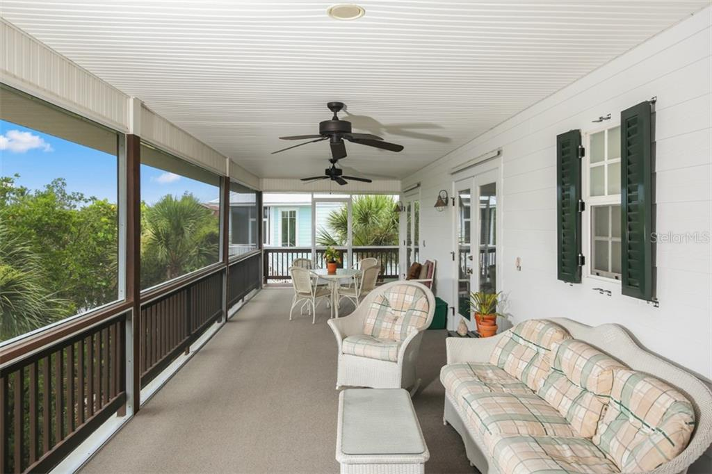 Extra-large back porch with intracoastal views. - Single Family Home for sale at 43 Bayshore Cir, Placida, FL 33946 - MLS Number is D6101722