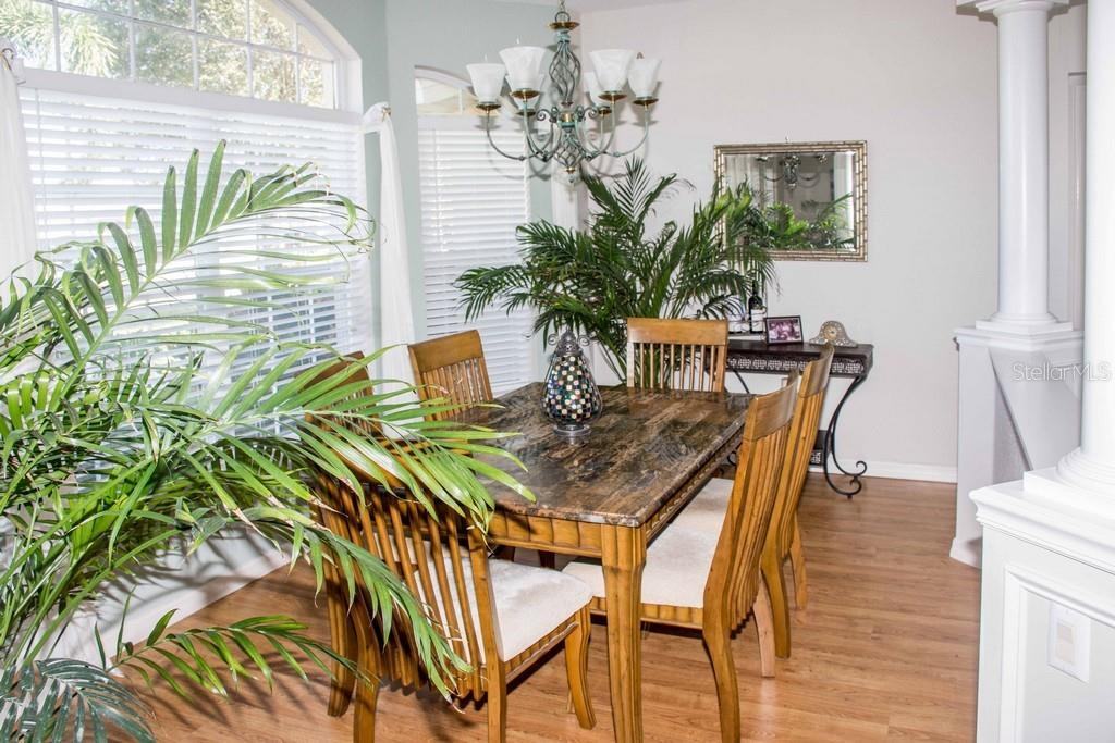 View of the dining area. - Single Family Home for sale at 14 Long Meadow Ln, Rotonda West, FL 33947 - MLS Number is D6102683