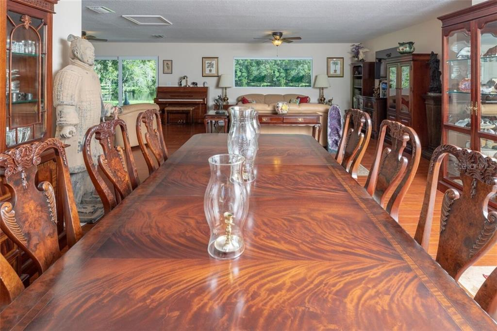 The dining area can accomodate even the largest dining room furniture - Single Family Home for sale at 7339 Hawkins Rd, Sarasota, FL 34241 - MLS Number is D6102762