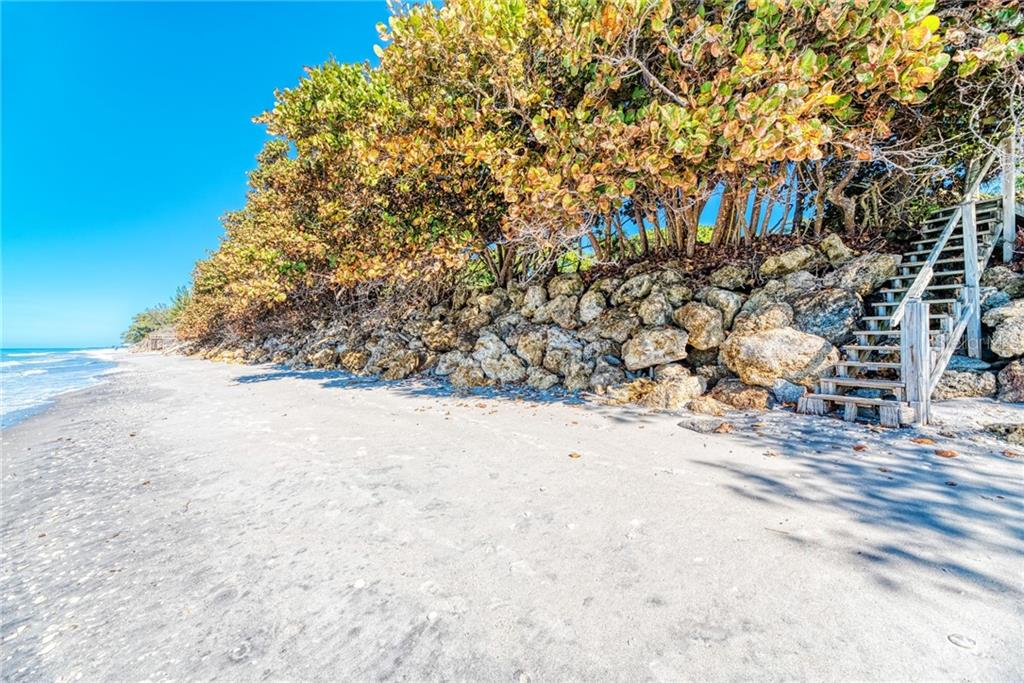This is the additional beach access point, shared by easement for one neighbor across Manasota Key Rd.. - Single Family Home for sale at 7400 Manasota Key Rd, Englewood, FL 34223 - MLS Number is D6104362