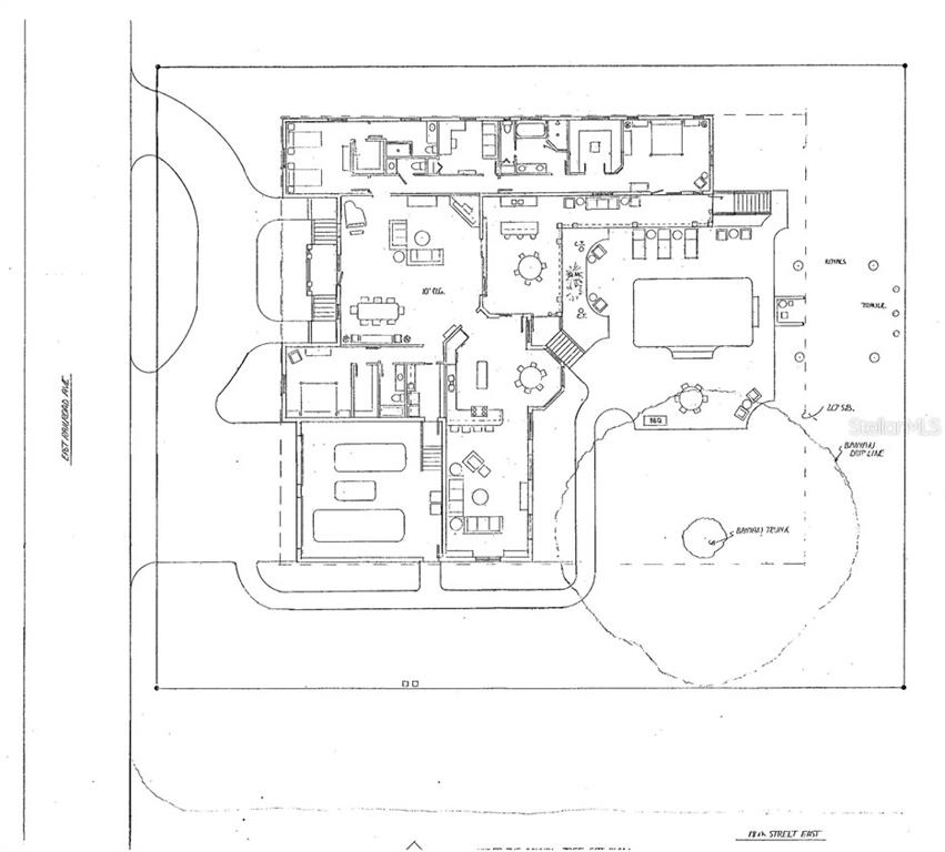 Floor plan of proposed home that could be built on property designed by Steve Bistline. - Vacant Land for sale at 1861 18th St E, Boca Grande, FL 33921 - MLS Number is D6105623