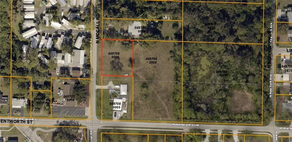 Lot outlined in red - Vacant Land for sale at N Mccall Rd, Englewood, FL 34223 - MLS Number is D6106830