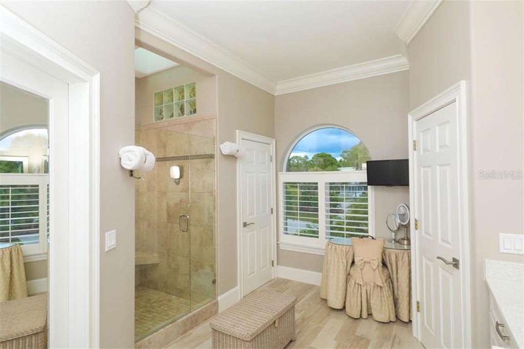 Master Bath With Walk In Shower - Single Family Home for sale at 1636 New Point Comfort Rd, Englewood, FL 34223 - MLS Number is D6108467
