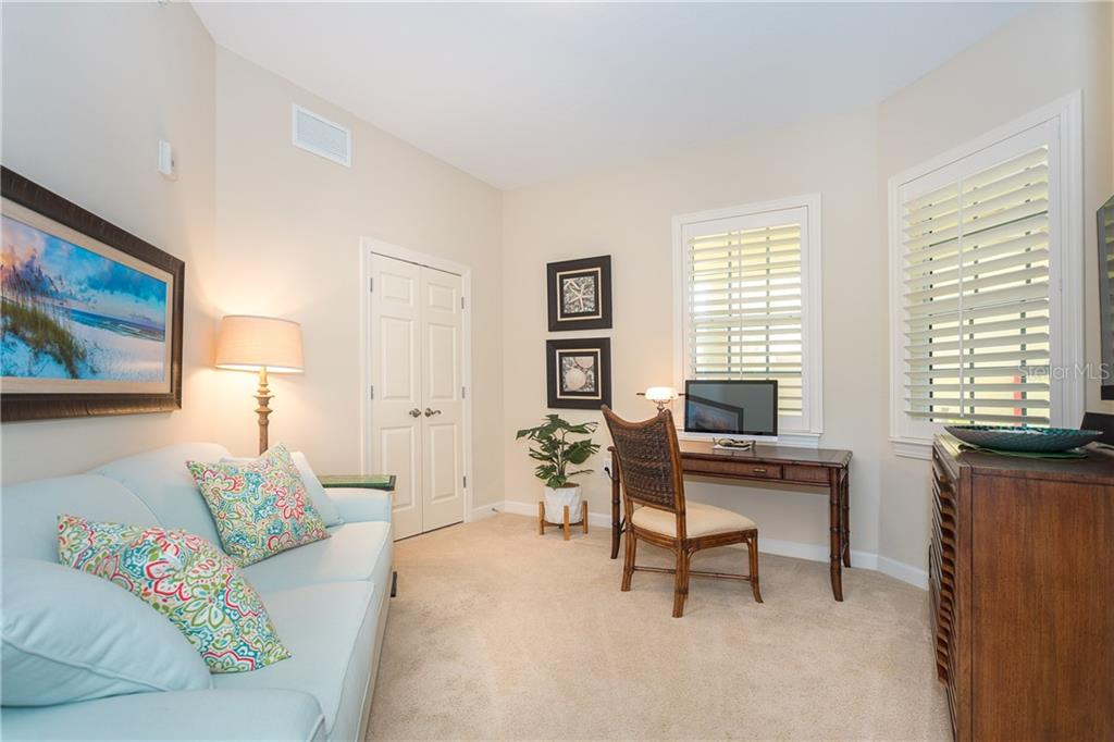 3rd Bedroom with ample closet space or decorate for an office and a Sofa Sleeper for your guests - Condo for sale at 8561 Amberjack Cir #202, Englewood, FL 34224 - MLS Number is D6109771