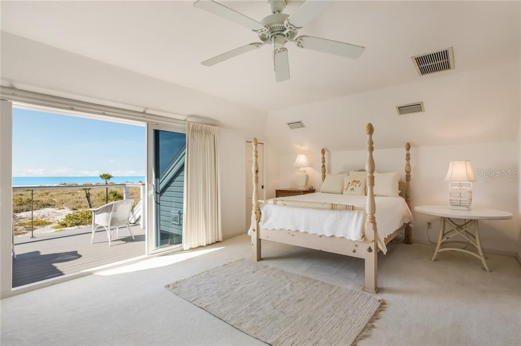 Master bedroom with private gulf side balcony - Single Family Home for sale at 16430 Gulf Shores Dr, Boca Grande, FL 33921 - MLS Number is D6110580