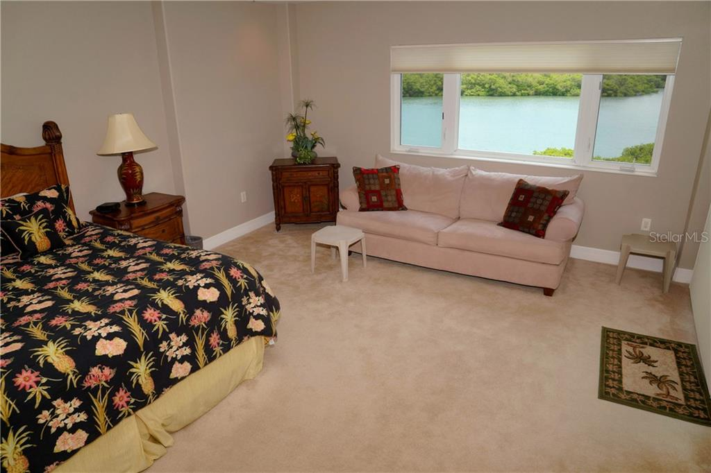 Large master bedroom w/another beautiful view - Condo for sale at 2245 N Beach Rd #304, Englewood, FL 34223 - MLS Number is D6112346