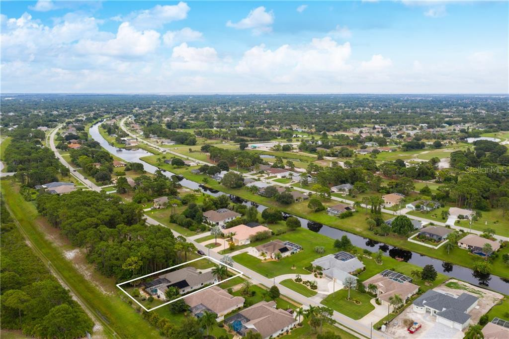 Aerial view 3 - Single Family Home for sale at 439 Boundary Blvd, Rotonda West, FL 33947 - MLS Number is D6114162