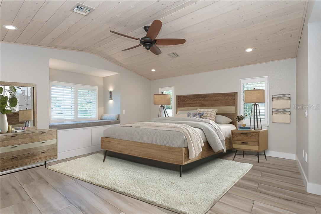 Master Bedroom Suite twin size window seat - Single Family Home for sale at 1661 New Point Comfort Rd, Englewood, FL 34223 - MLS Number is D6117712