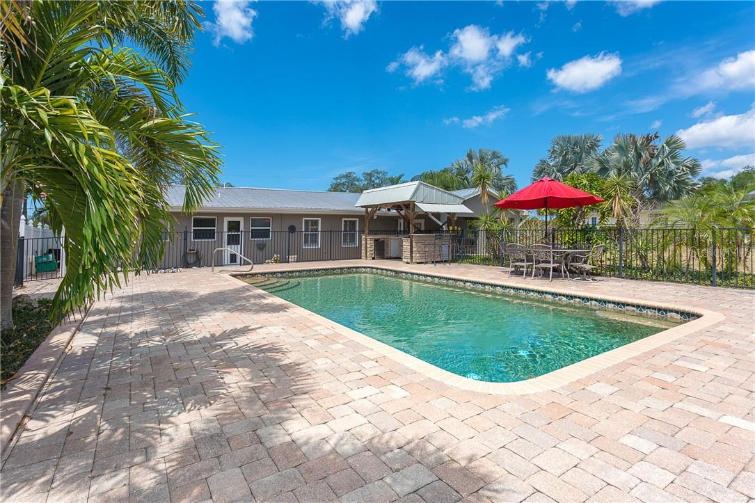 So much space for any entertaining, pool floats, loungers or whatever you desire.  Pool is absolutely stunning and measures approximately 16 x 32 - Single Family Home for sale at 1661 New Point Comfort Rd, Englewood, FL 34223 - MLS Number is D6117712
