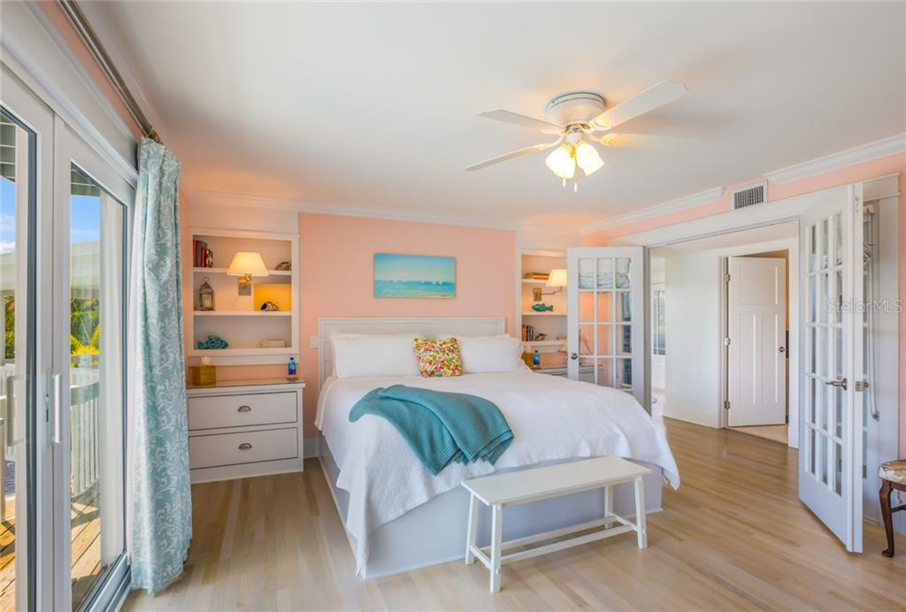 Custom drawers and shelves provide lots of storage in the main floor bedroom suite - Single Family Home for sale at 511 Loquat Dr, Anna Maria, FL 34216 - MLS Number is T3196169