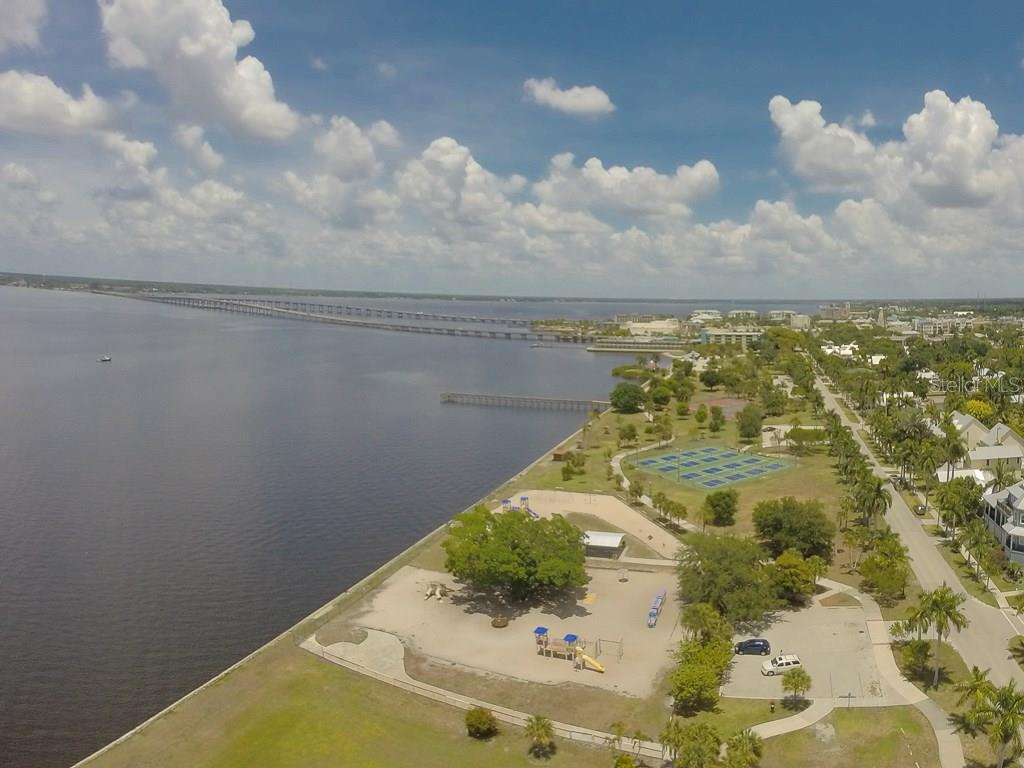 Gilchrist Park with public tennis courts - Vacant Land for sale at 2272 Palm Tree Dr, Punta Gorda, FL 33950 - MLS Number is C7232726