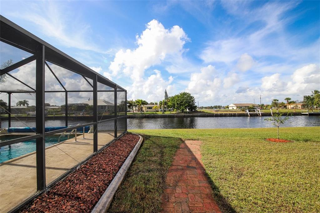 West facing rear yard & Pool - Single Family Home for sale at 126 Bangsberg Rd Se, Port Charlotte, FL 33952 - MLS Number is C7409866