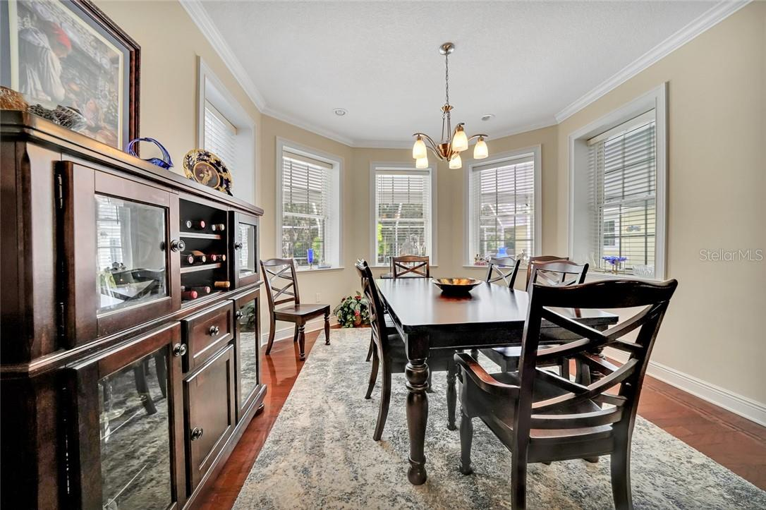 Breakfast nook located between kitchen and family room - Single Family Home for sale at 10230 Sw County Road 769, Arcadia, FL 34269 - MLS Number is C7437596