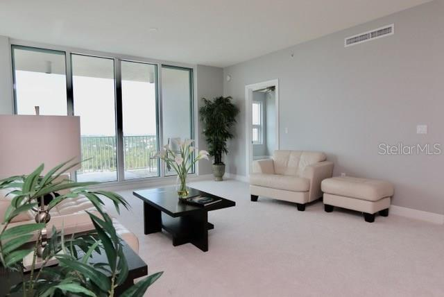 Unobstructed view from the living room.  Unit is freshly painted and new carpeting throughout. - Condo for sale at 1771 Ringling Blvd #1108, Sarasota, FL 34236 - MLS Number is A4162718