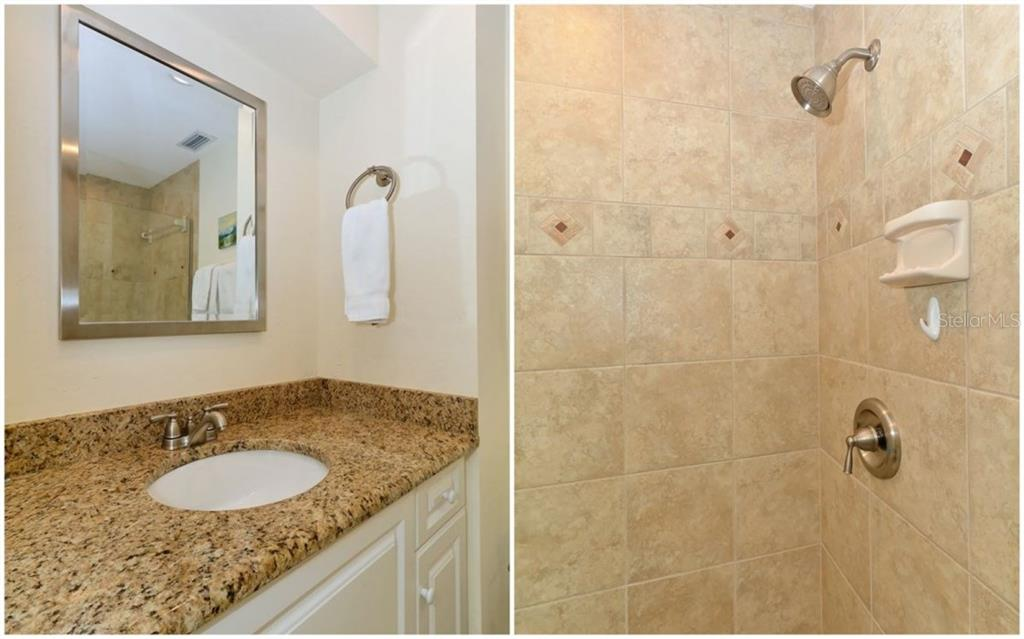 Master bathroom - Single Family Home for sale at 5830 Midnight Pass Rd #504, Sarasota, FL 34242 - MLS Number is A4166623