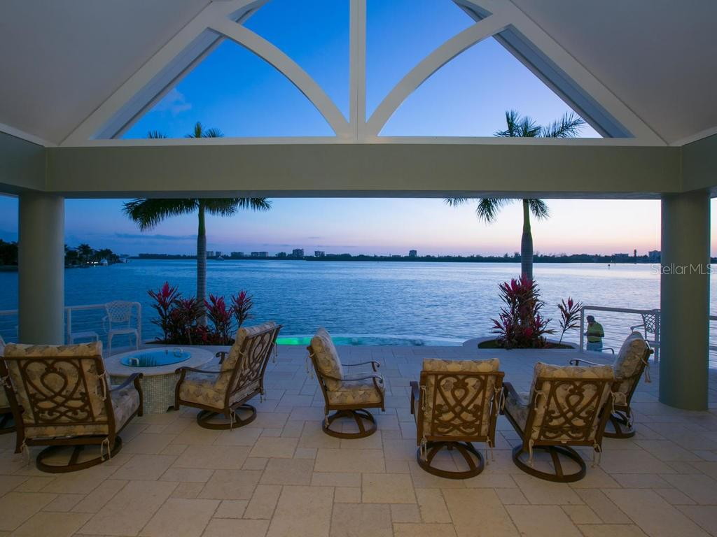View from the terrace - Single Family Home for sale at 100 S Warbler Ln, Sarasota, FL 34236 - MLS Number is A4184994