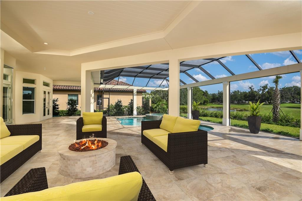 One of the most amazing features of this home is the Outdoor Living area. - Single Family Home for sale at 4046 Mayors Ct, Sarasota, FL 34240 - MLS Number is A4185203