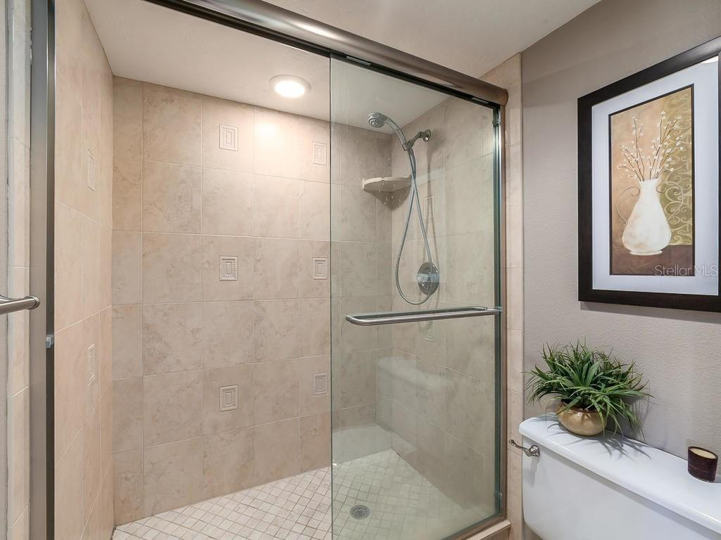 Master bathroom shower - Condo for sale at 6236 Midnight Pass Rd #406, Sarasota, FL 34242 - MLS Number is A4188093
