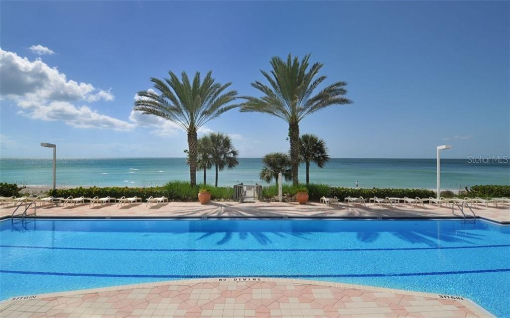 Magnificent lap pool overlooking the Gulf of Mexico. - Condo for sale at 1800 Benjamin Franklin Dr #b507, Sarasota, FL 34236 - MLS Number is A4188540