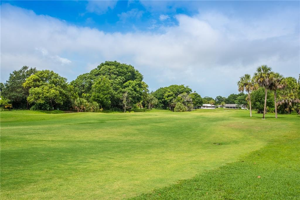 Golf course view - Single Family Home for sale at 3448 Pine Valley Dr, Sarasota, FL 34239 - MLS Number is A4188545
