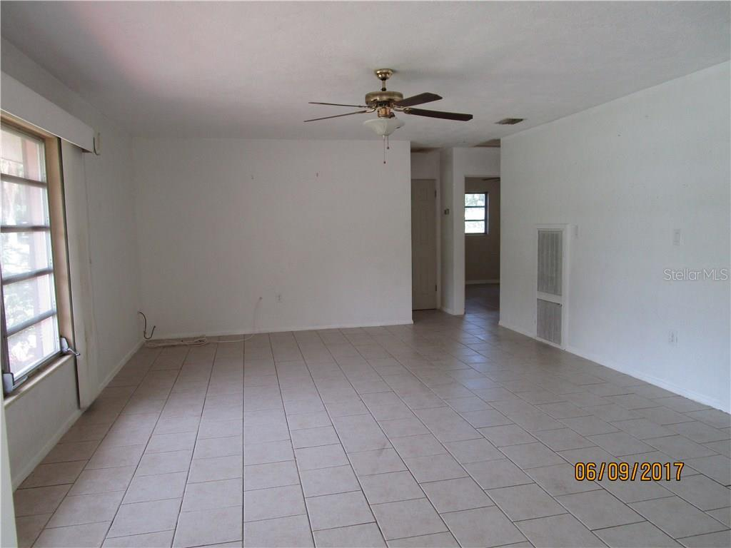 main living area - tiled for easy care! - Single Family Home for sale at 3002 36th Ave W, Bradenton, FL 34205 - MLS Number is A4189280