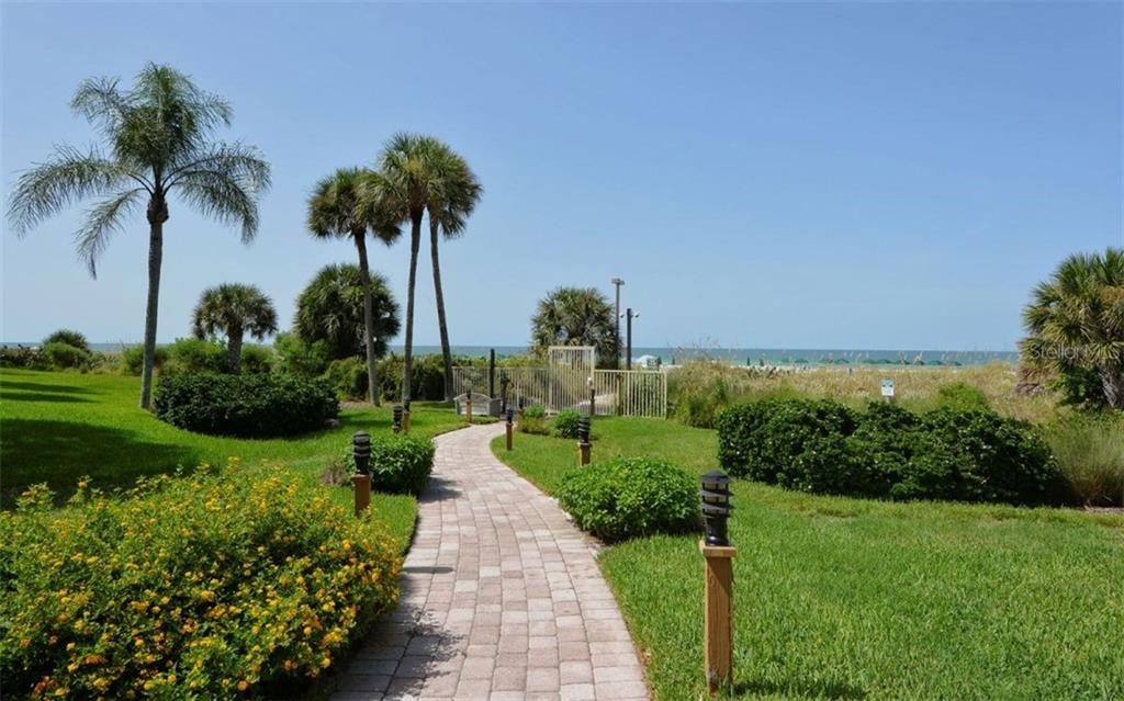 Walkway to the beach - Condo for sale at 6342 Midnight Pass Rd #232, Sarasota, FL 34242 - MLS Number is A4189282