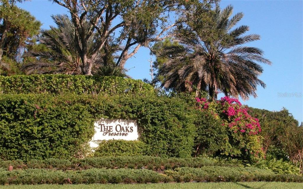 The oaks Preserve entrance - Condo for sale at 409 N Point Rd #601, Osprey, FL 34229 - MLS Number is A4189564
