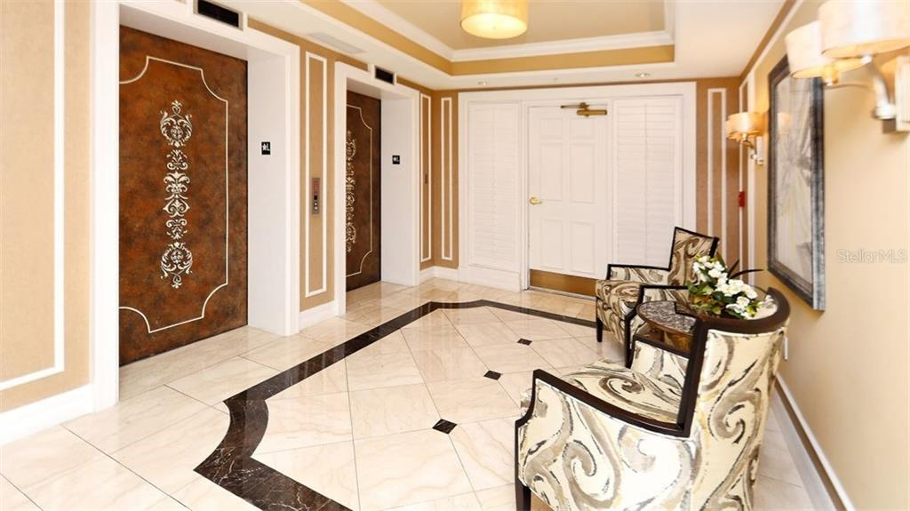 Elevator Foyer - Condo for sale at 409 N Point Rd #601, Osprey, FL 34229 - MLS Number is A4189564