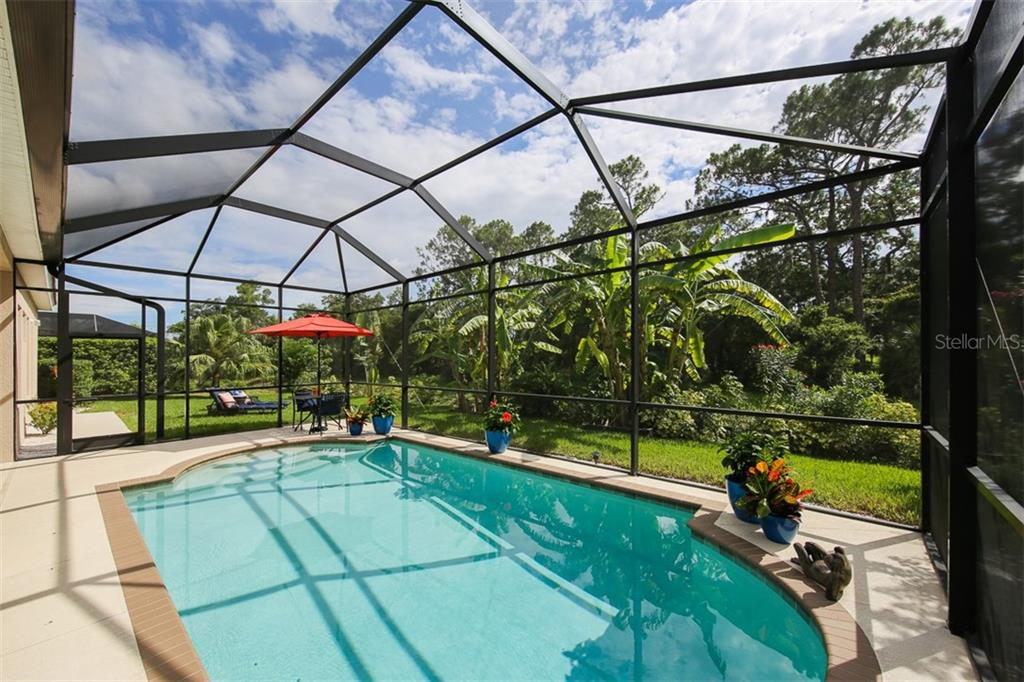 Large Caged Pool & Lanai Area for your year-round enjoyment of the Florida Lifestyle - Single Family Home for sale at 5770 Rock Dove Dr, Sarasota, FL 34241 - MLS Number is A4190439
