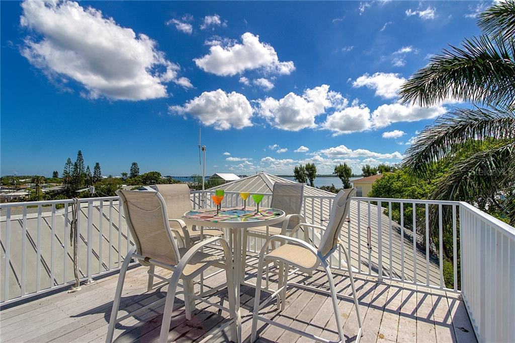 Roof Top Deck - Single Family Home for sale at 2502 Avenue B, Bradenton Beach, FL 34217 - MLS Number is A4191682