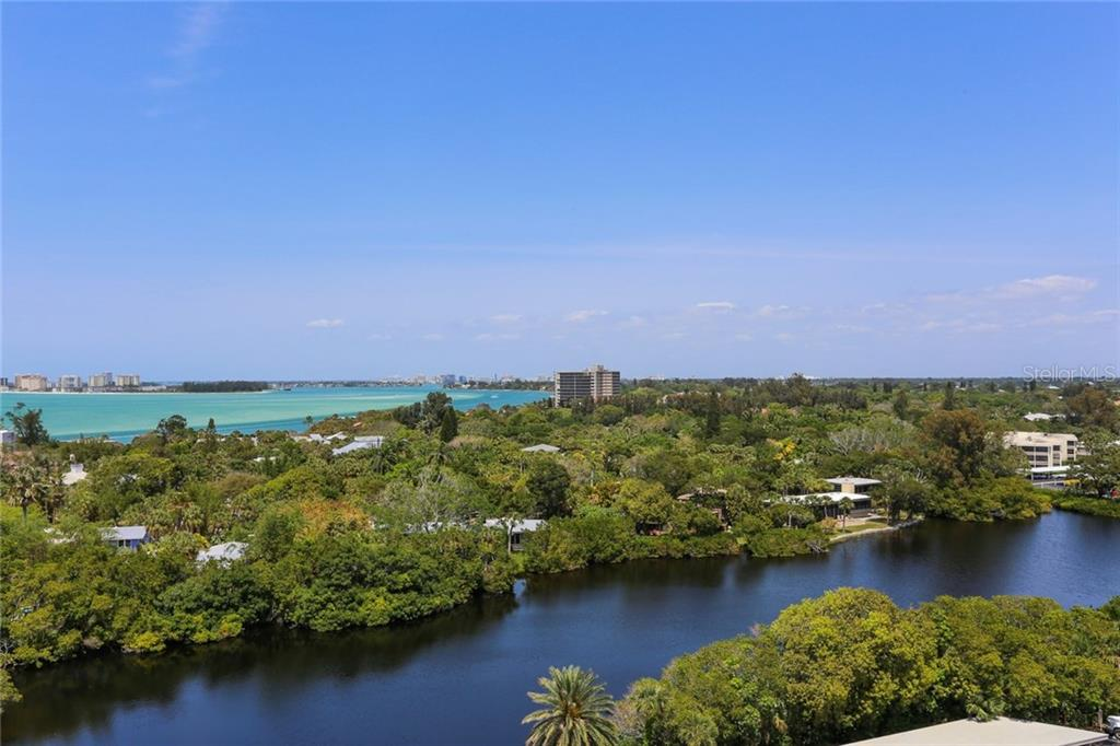 View of lagoon, Big Pass and Lido Key - Condo for sale at 20 Whispering Sands Dr #1103, Sarasota, FL 34242 - MLS Number is A4192663