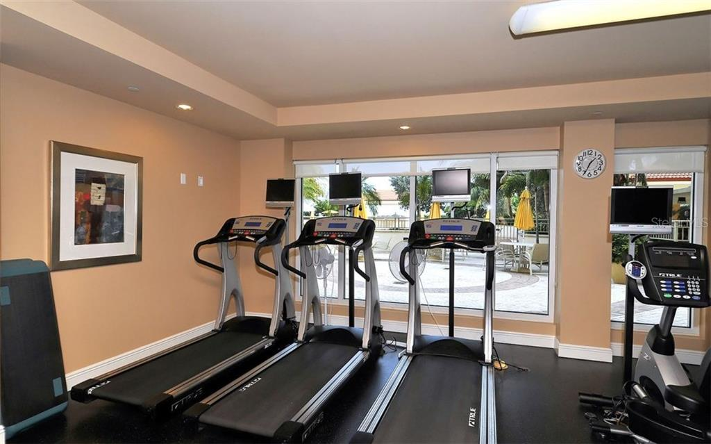 FITNESS ROOM. LOTS MORE EQUIPMENT, ETC NOT SHOWN IN THIS PICTURE. - Condo for sale at 100 Central Ave #h716, Sarasota, FL 34236 - MLS Number is A4193586
