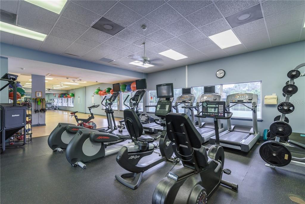 The Exercise Equipment in the separate Fitness Center - Single Family Home for sale at 11823 River Shores Trl, Parrish, FL 34219 - MLS Number is A4194999
