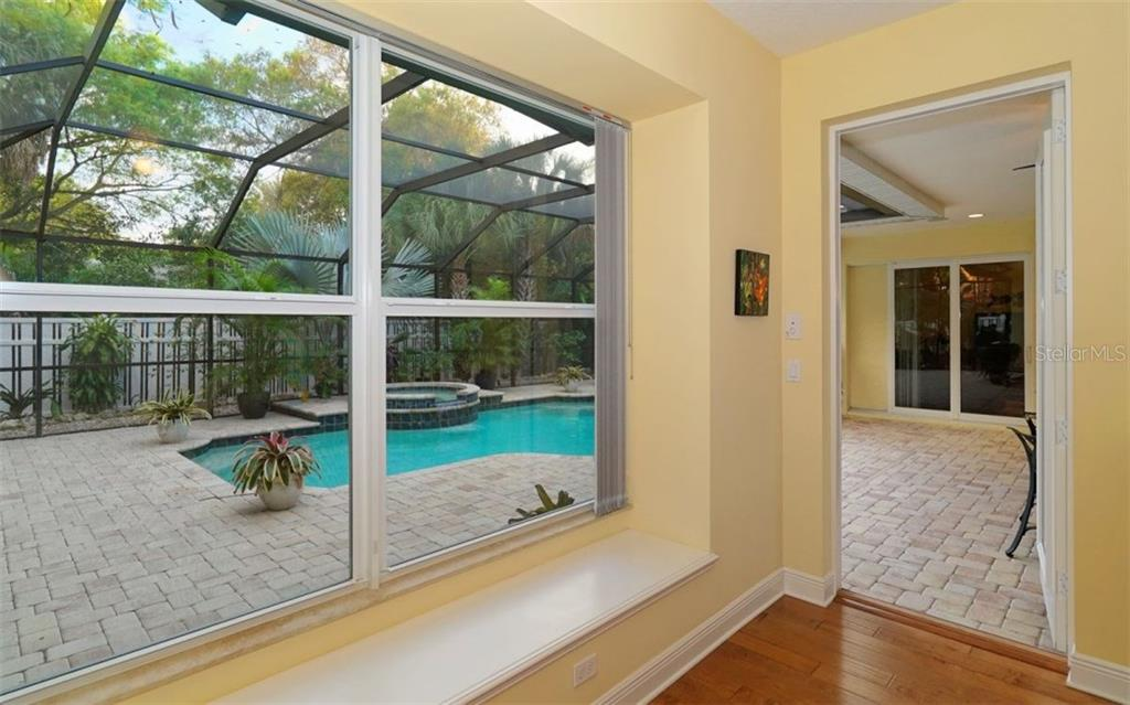 Private door to pool from Master Suite - Single Family Home for sale at 1746 Hillview St, Sarasota, FL 34239 - MLS Number is A4202985