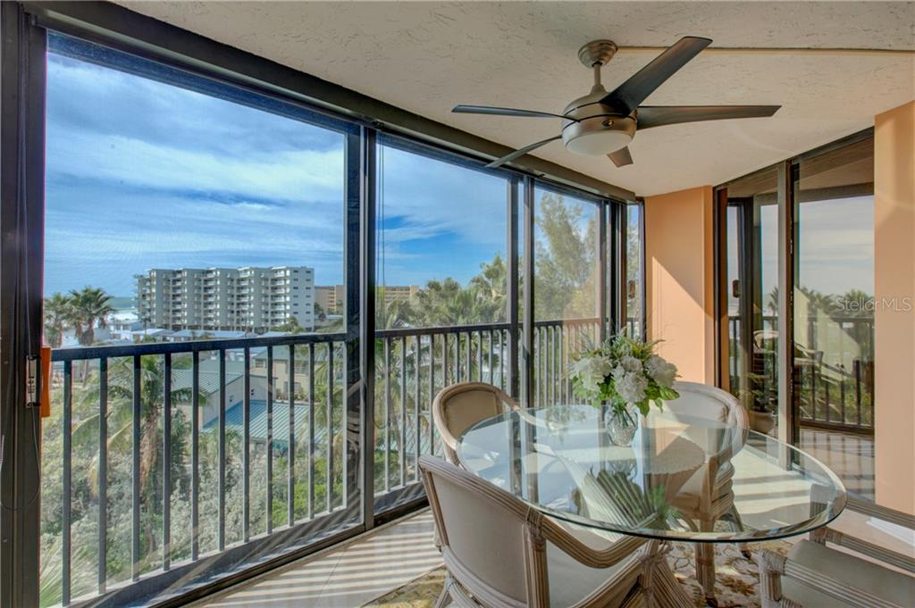View from enclosed lanai. - Condo for sale at 5880 Midnight Pass Rd #610, Sarasota, FL 34242 - MLS Number is A4204670
