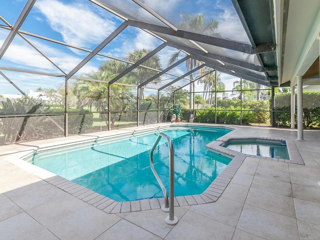 Beautiful Pool and Spa area - Single Family Home for sale at 3959 Prairie Dunes Dr, Sarasota, FL 34238 - MLS Number is A4205907