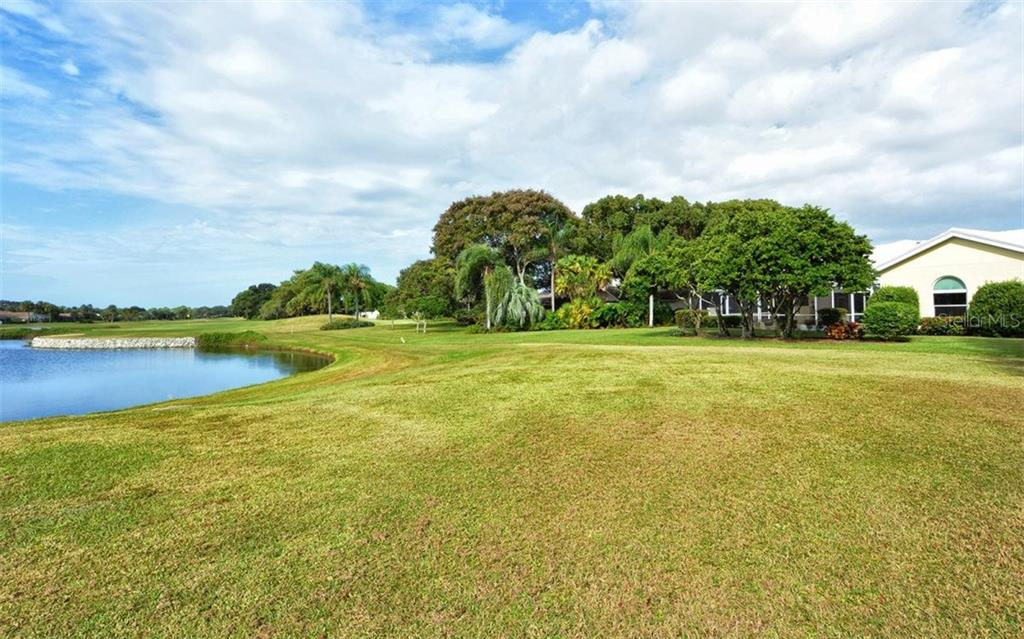 Back of home - so private!! - Single Family Home for sale at 3882 Spyglass Hill Rd, Sarasota, FL 34238 - MLS Number is A4206477
