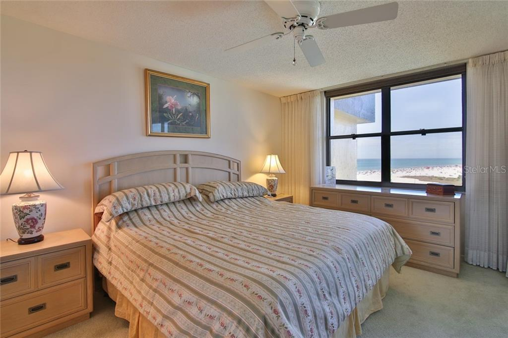 Master bedroom wakes to the Gulf. Private sliders to lanai - Condo for sale at 5790 Midnight Pass Rd #704, Sarasota, FL 34242 - MLS Number is A4208095