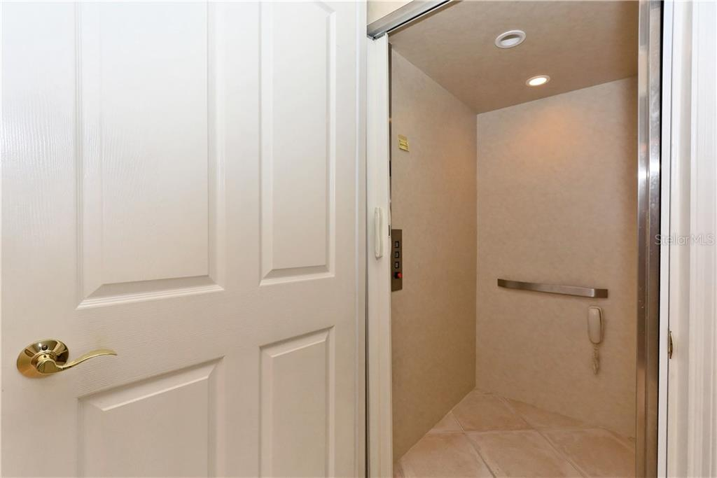 Private elevator. - Condo for sale at 5242 Parisienne Pl #201bd30, Sarasota, FL 34238 - MLS Number is A4208770