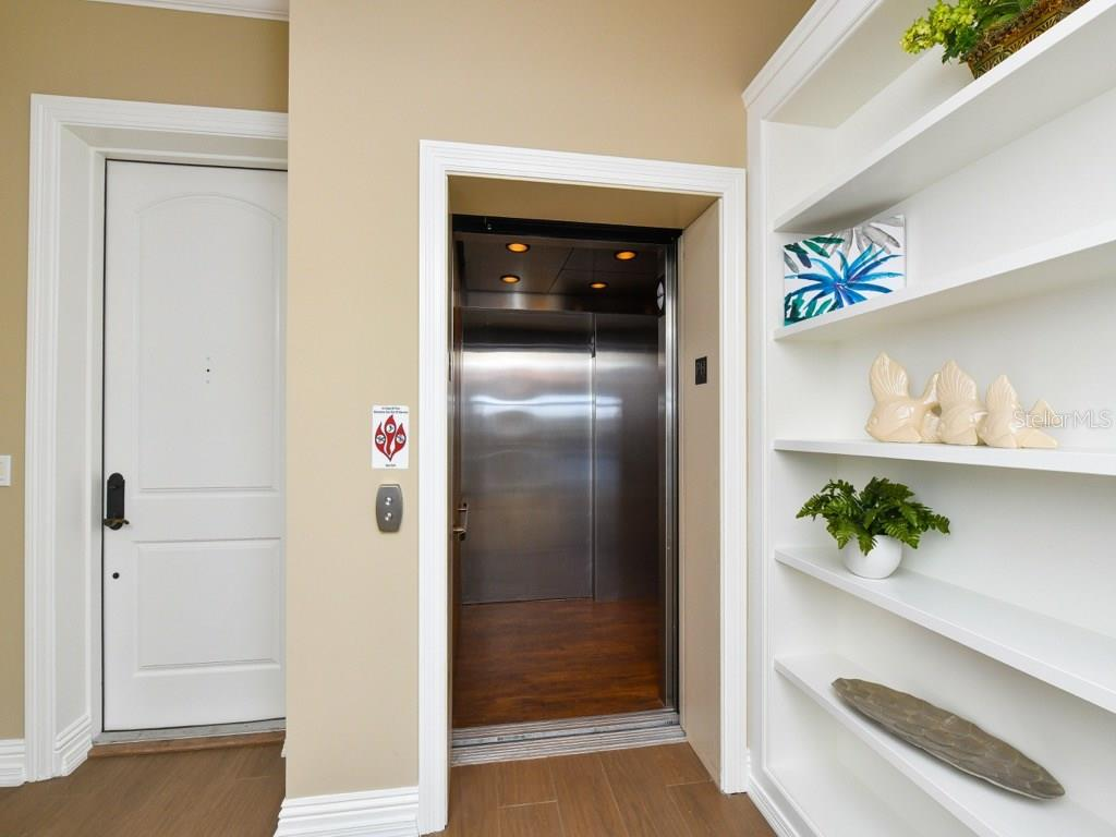 Private elevator entrance to Penthouse C - Condo for sale at 888 S Orange Ave #ph-C, Sarasota, FL 34236 - MLS Number is A4209372