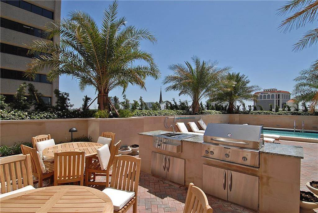 Pool Deck with Grills. - Condo for sale at 1350 Main St #1106, Sarasota, FL 34236 - MLS Number is A4209424