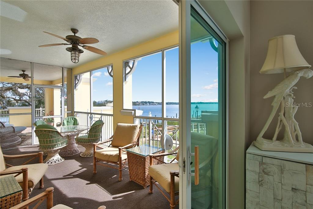 Large screen balcony off Master Bedroom - Condo for sale at 1310 Old Stickney Point Rd #e21, Sarasota, FL 34242 - MLS Number is A4209502