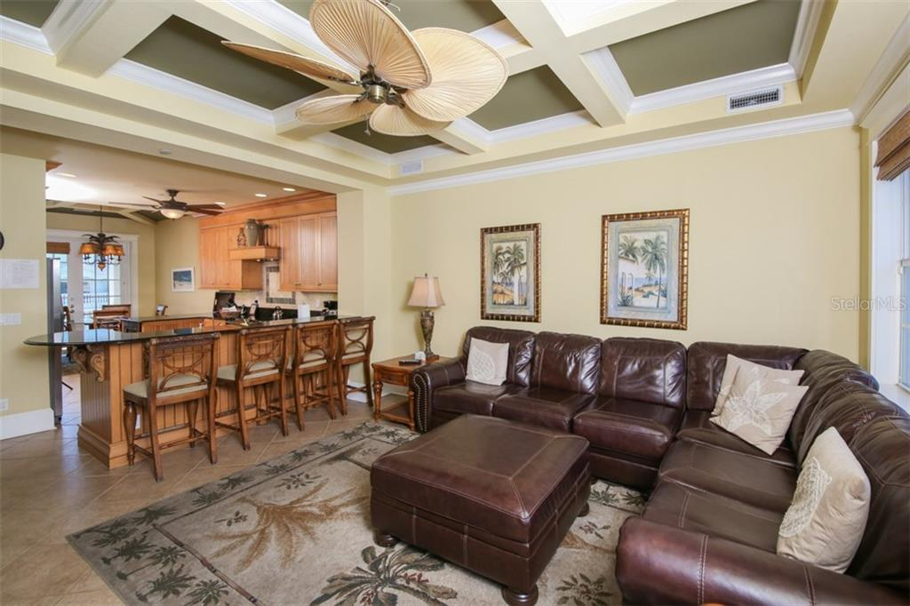 Home is turnkey furnished - everything stays - Custom tray ceiling - Single Family Home for sale at 455 Canal Rd, Sarasota, FL 34242 - MLS Number is A4209817