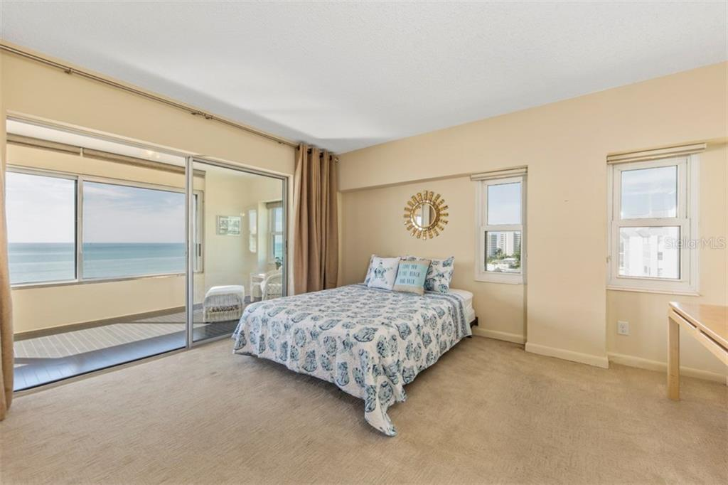 Large master bedroom with beautiful carpet - Condo for sale at 6140 Midnight Pass Rd #608, Sarasota, FL 34242 - MLS Number is A4209897
