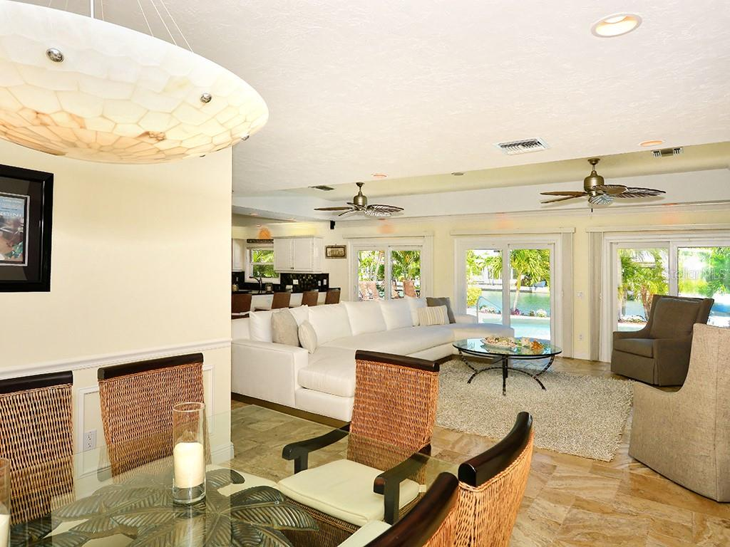 Dining Area - Family Room - Single Family Home for sale at 85 S Polk Dr, Sarasota, FL 34236 - MLS Number is A4400870