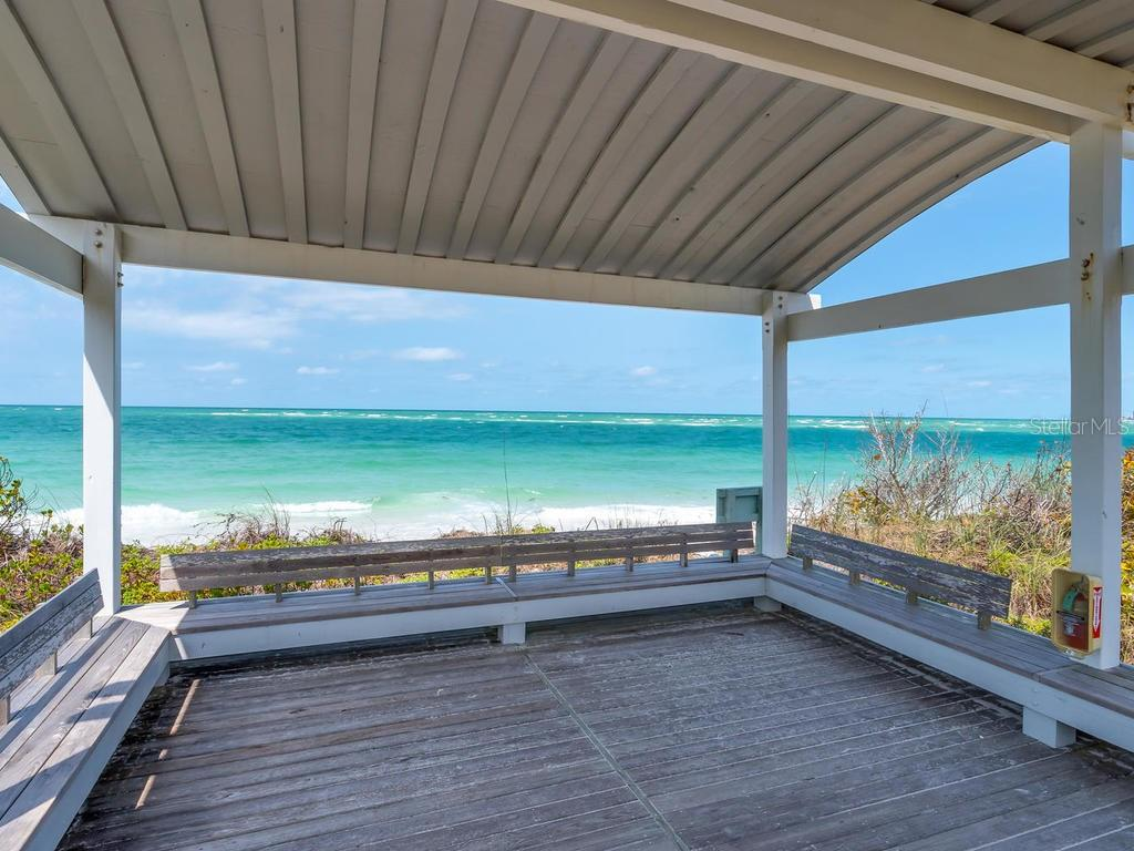 Gazebo for deeded beach access - Single Family Home for sale at 1173 Morningside Pl, Sarasota, FL 34236 - MLS Number is A4401654