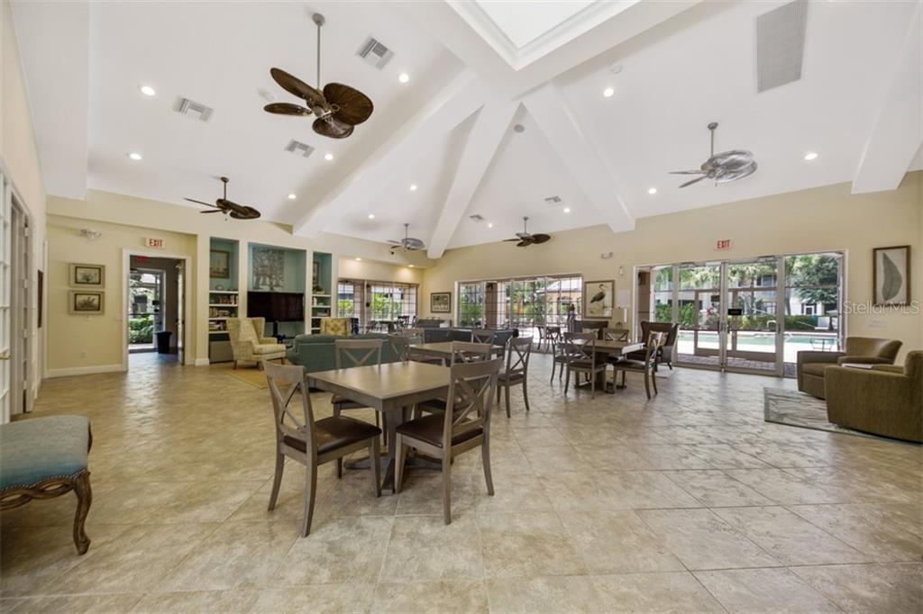 Beautiful community room at clubhouse. - Condo for sale at 6540 Moorings Point Cir #202, Lakewood Ranch, FL 34202 - MLS Number is A4403403