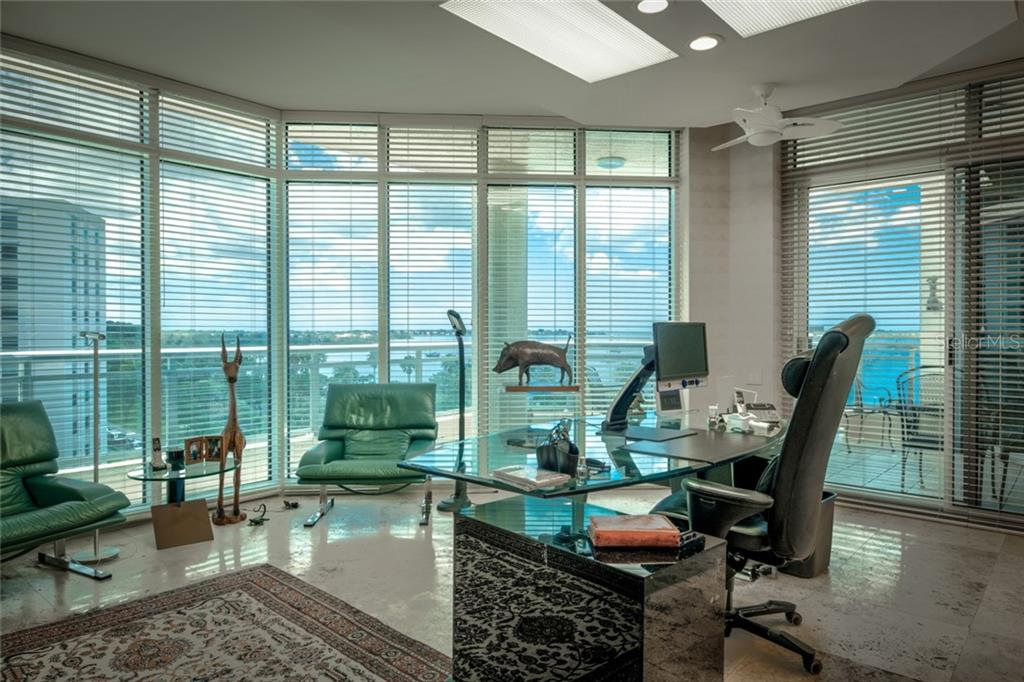 3rd bedroom converted into a executive home office. - Condo for sale at 340 S Palm Ave #412, Sarasota, FL 34236 - MLS Number is A4403968